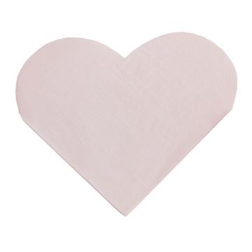 Pink Heart Shaped Napkins - pack of 16